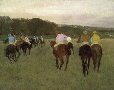Racehorses at Longchamp, 1871