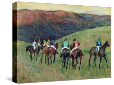Racehorses in a Landscape, 1894 by Edgar Degas