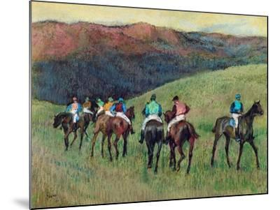 Racehorses in a Landscape, 1894 by Edgar Degas