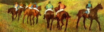 Racehorses in a Landscape (detail)