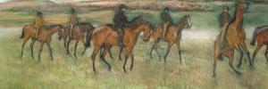 Racehorses (Pastel) by Edgar Degas