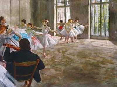 Rehearsal in the Studio, c.1878-1879 by Edgar Degas