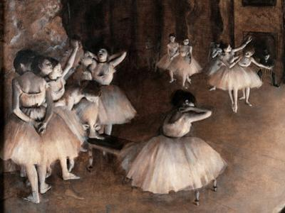 Rehearsal on Stage (Detail) by Edgar Degas