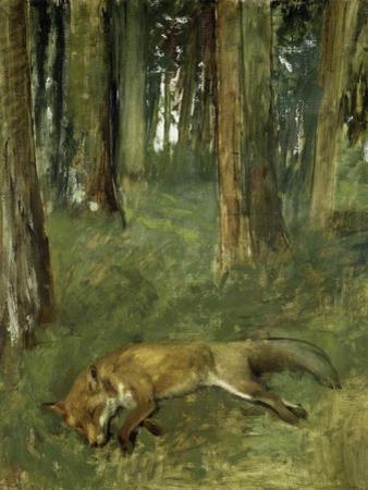 Renard Mort Sous Bois by Edgar Degas