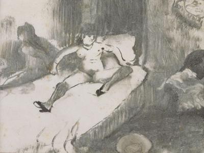 Repos sur le lit by Edgar Degas