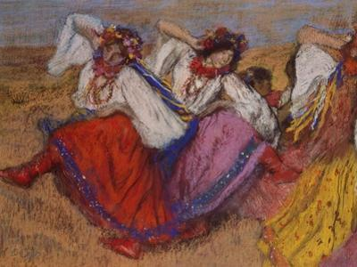 Russian Dancers, about 1895 by Edgar Degas