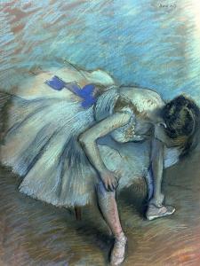 Seated Dancer, circa 1881-83 by Edgar Degas