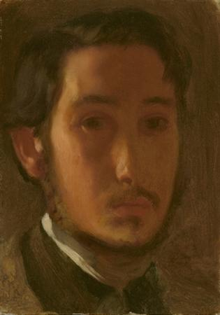 Self-Portrait with White Collar, c.1857 by Edgar Degas