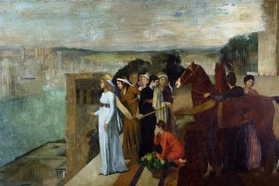 Semiramis Building Babylon, 1861 by Edgar Degas