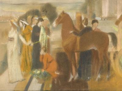 Sémiramis construisant Babylone by Edgar Degas