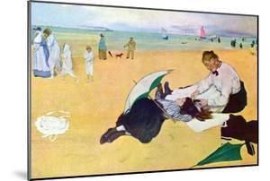 Small Girls on the Beach by Edgar Degas