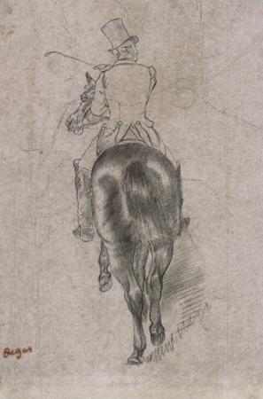 Spurring on the Horse by Edgar Degas