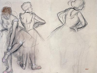 Study of Dancers; Etude De Danseuses by Edgar Degas