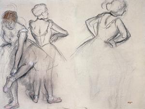 Study of Dancers by Edgar Degas