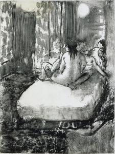 Sur le lit by Edgar Degas