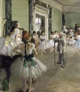 The Ballet Class by Edgar Degas