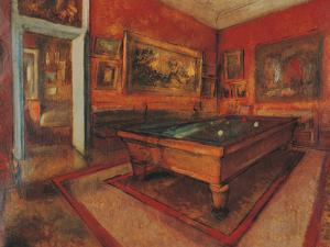 The Billiard Room by Edgar Degas