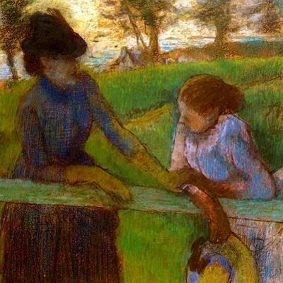 The Conversation, C.1889 by Edgar Degas