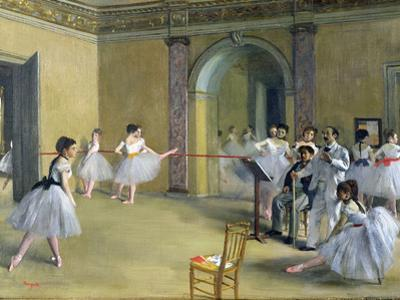 The Dance Foyer at the Opera on the Rue Le Peletier, 1872 by Edgar Degas