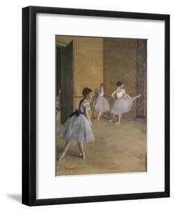 The Dance Lecon (detail). 1872. Oil on canvas. by Edgar Degas