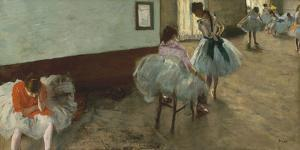 The Dance Lesson, c. 1879 by Edgar Degas
