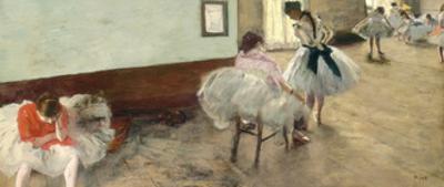 The Dance Lesson, C.1879 by Edgar Degas