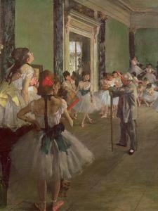 The Dancing Class, circa 1873-76 by Edgar Degas