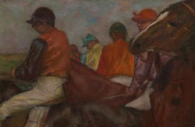 The Jockeys, C.1882 by Edgar Degas