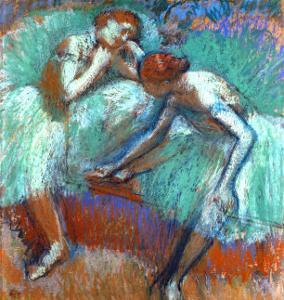 The Large Green Dancers, 1898-1900 by Edgar Degas