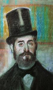 The Man with the Top-Hat, 1834 by Edgar Degas