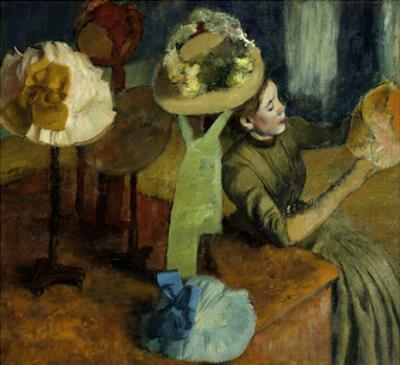 The Millinery Shop. 1879-86 by Edgar Degas