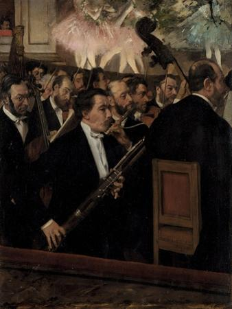 The Orchestra at the Opera, C. 1870 by Edgar Degas
