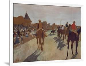 The Parade, or Race Horses in Front of the Stands, about 1866/68 by Edgar Degas
