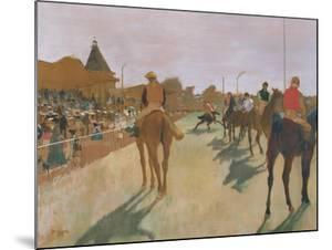 The Parade, or Race Horses in Front of the Stands, circa 1866-68 by Edgar Degas