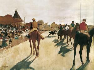The Parade, or Race Horses in Front of the Stands by Edgar Degas