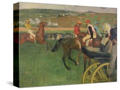 The Race Course, Amateur Jockeys Near a Carriage, circa 1876-87 by Edgar Degas