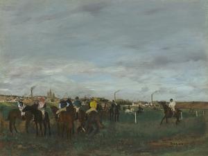 The Races, 1871-2 by Edgar Degas