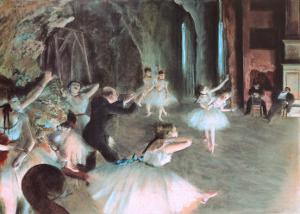 The Rehearsal of the Ballet on Stage, c.1874 by Edgar Degas
