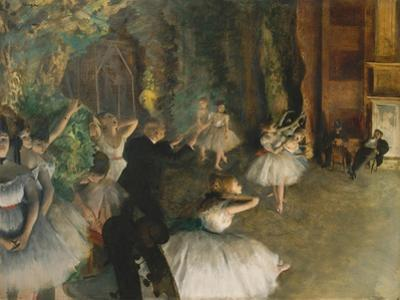 The Rehearsal of the Ballet on Stage, c.1878-79 by Edgar Degas