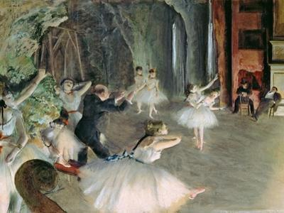 The Rehearsal of the Ballet on Stage, circa 1878-79 by Edgar Degas