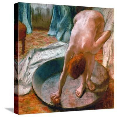 Edgar Degas: The Tub, 1886-Edgar Degas-Stretched Canvas Print