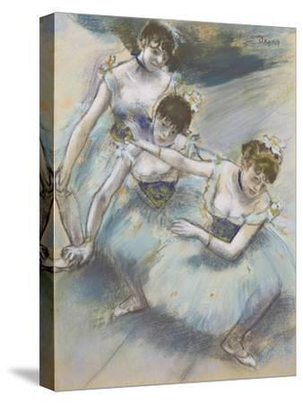 Three Dancers in a Diagonal Line on the Stage, C.1882