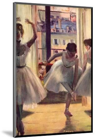 Three Dancers in a Practice Room by Edgar Degas