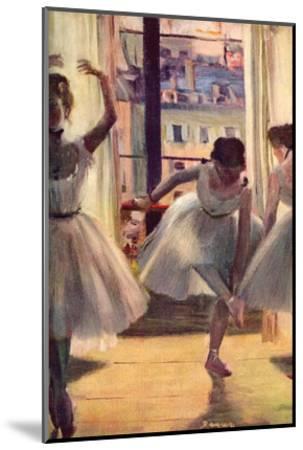 Three Dancers in a Practice Room by Edgar Degas