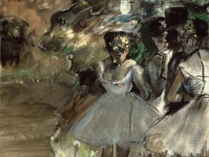 Three Dancers in the Wings by Edgar Degas