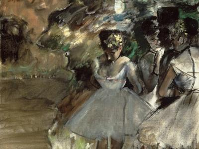 Three Dancers in the Wings