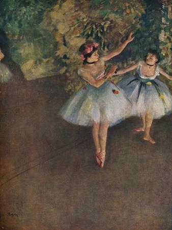'Two Ballet Dancers on the Stage (Deux Danseuses Sur La Scene)', 1874 (1946) by Edgar Degas