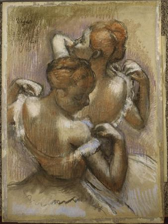 Two Dancers Adjusting their Shoulder Straps, C.1897 by Edgar Degas
