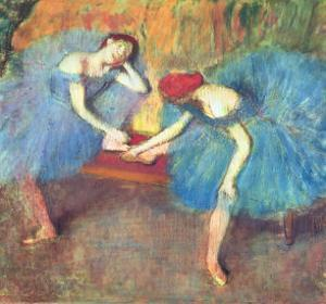 Two Dancers at Rest Or, Dancers in Blue, circa 1898 by Edgar Degas