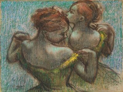 Two Dancers, Half-Length by Edgar Degas